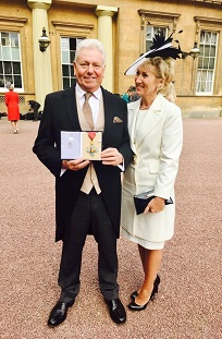 Martin Ainscough with CBE